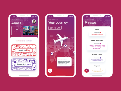 Interactive Travel Guide App UI