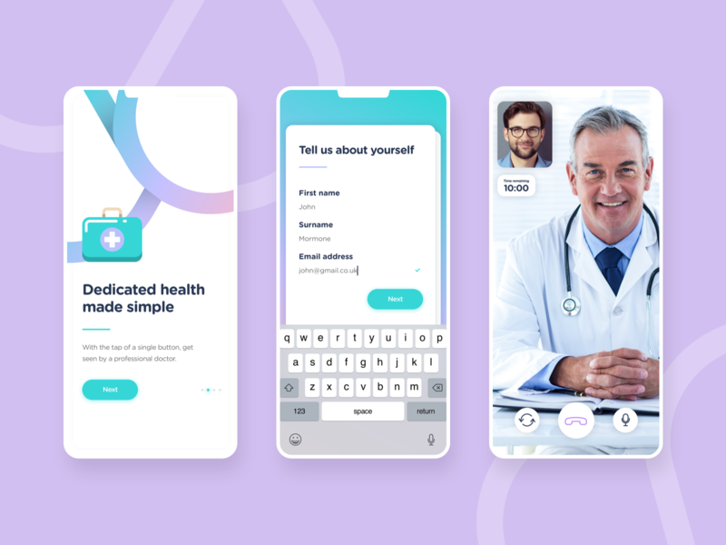 Doctor Consulation App UI clean mobile concept dashboard visual ux interface interaction app ui design