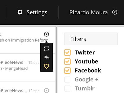 feedgater dashboard feeds gater feedgater social aggregator facebook twitter youtube tumblr pinterest google