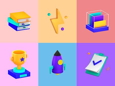 3d icon web icon logo illustration design blender 3d