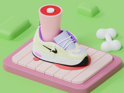nike web design blender 3d