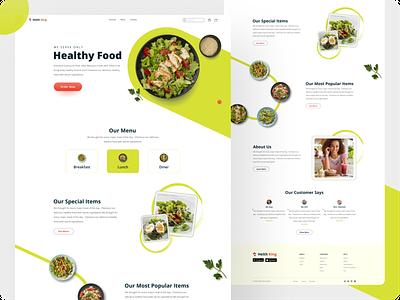 Food Business Landing Page minimalist minimal website design website research 2021 trend color business food typography uiux logo web design ux user interface user experience ui landing page design