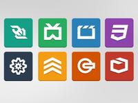 HTML5 Logos Flat