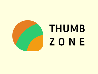 Thumb Zone Logo design android logo