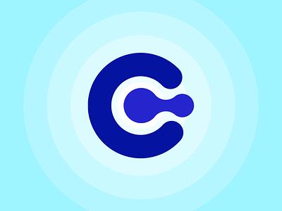 C. Logo circle blue c logo