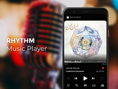 Rhythm Music Player track black android app player music rythm