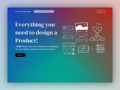 Product Design One landing