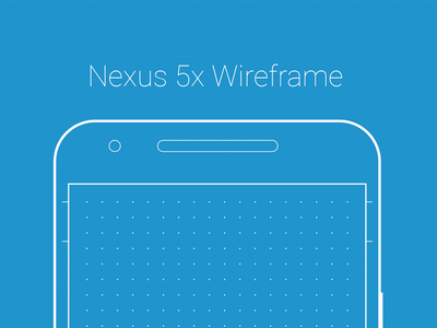 Nexus 5x Wireframe dotted grid template freebie wireframe android nexus
