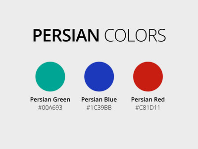 Persian Colors green red blue persian