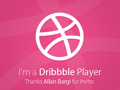 I'm a Dribbble Player player dribbble