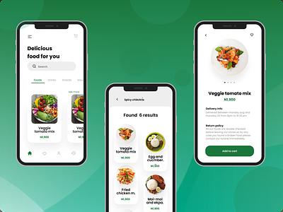 Food Delivery App Design food delivery application food app vineetjaindesign food delivery app