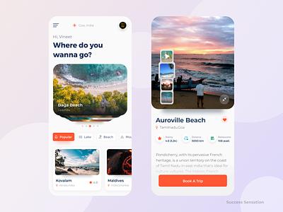 Travel Application Design travel app design travel app ui travel apps uidesign vineetjaindesign design