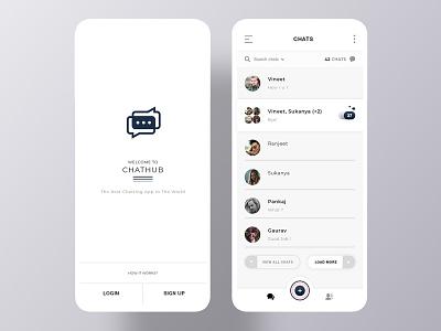 Chat app mobile app mobile design uidesign ui chatting chat app