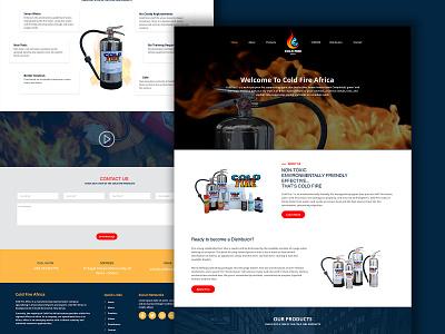Firefighting industry website design website website concept website design vineetjaindesign