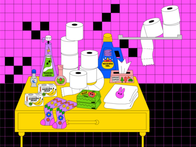Quarantine #3 illustrator icon ui design girl animation love graphic character illustration quarantine