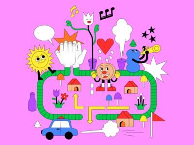 StaRt - ミセスグリーンアップル girl typography branding logo animation love character illustration icon japan infographic poster