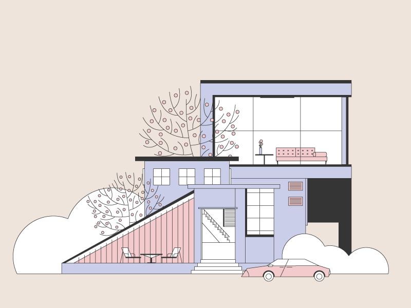 Modern House By Lucia Pham On Dribbble