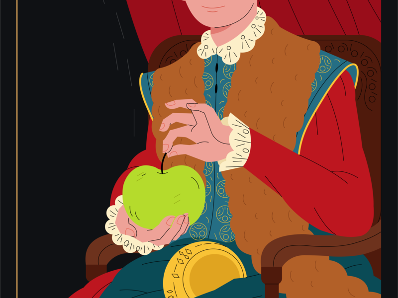 Boy with Apple minimal blog flat vector web painting apple logo branding boy animation love character artwork art illustrator drawing graphic design illustration