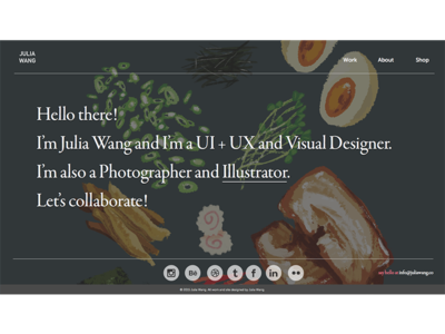 Personal Website Redesign personal identity design web