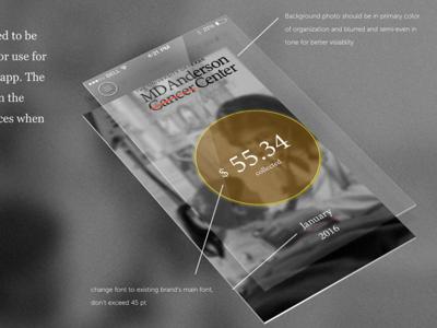 MD Anderson App mockup design visual ux ui