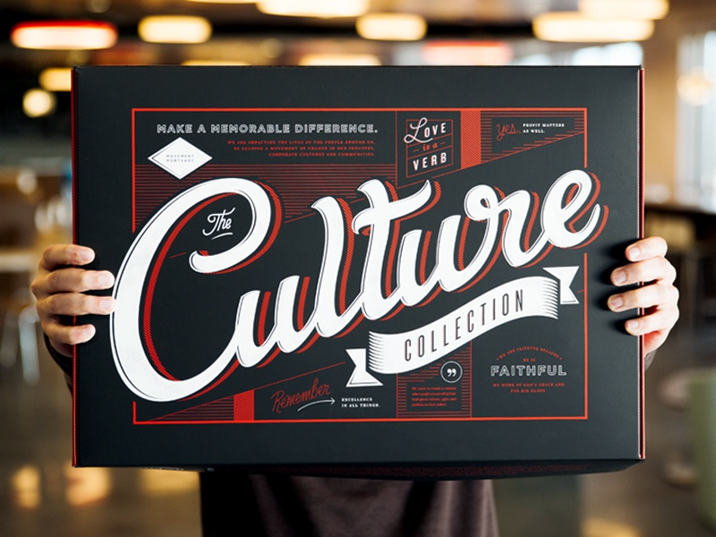 The Culture Collection Box gear charger mug handbook notebook typography collection culture movement welcome lettering box