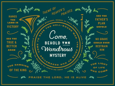 Lessons & Carols 17 french horn christmas event type typography layout concert invitation