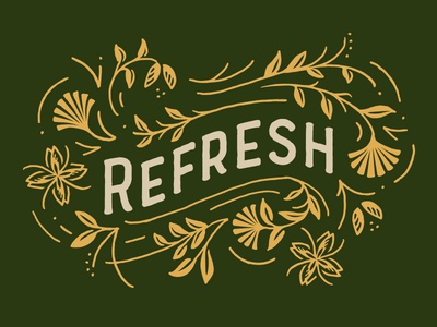 Fall Retreat fall retreat leaves stencil typography floral illustration lettering type