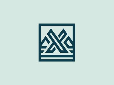 Trexx mark apparel icon mountains outdoor linework x emblem brand logo