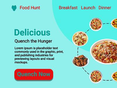 Delicious Food App landing page uidesign mobile ui design landingpage home screen homepage mobile app design mobile app ui design ui