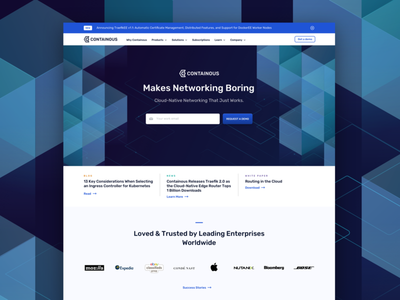 Containous Landing Page