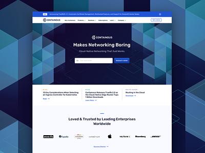 Containous Landing Page design uiux web
