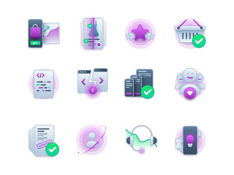 Icons Set for Kobiton icons icon vector design illustration