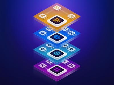 TraefikLabs Stack Graphic diagram stack graphics design ui