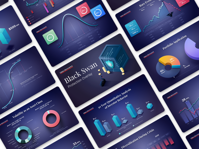 Data visualization for a leading wealth management group bar chart bell chart pie chart graphs slides data visualization presentation charts financial isometric illustration design