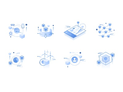 AI Icons for Bedrock artificial intelligence ai vector design ux isometric ui illustration icons