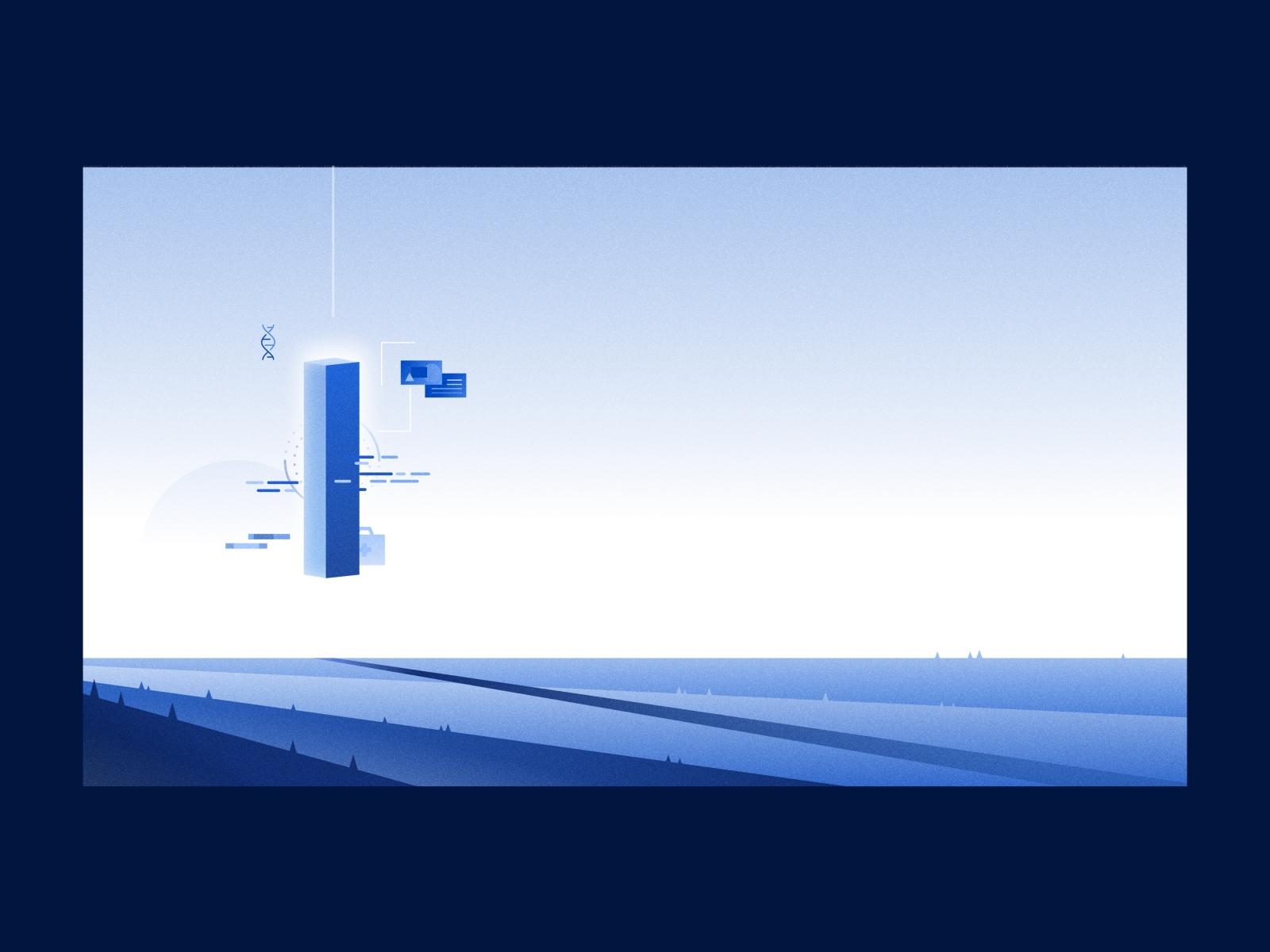 Abstract Illustration - Monolith 🗿☁️