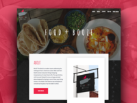 Restaurant Website - Dark Concept