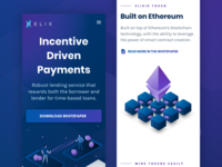 Elix Landing Page - Mobile Version
