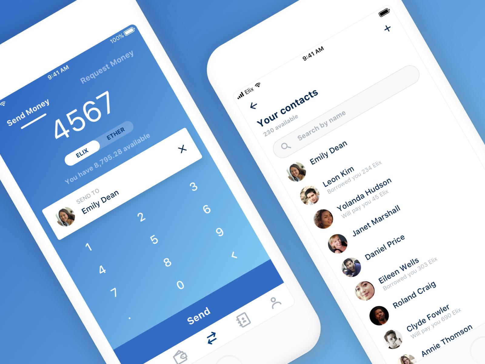 Elix lending app concept elix