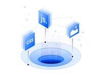 Web Assets Delivery Illustration
