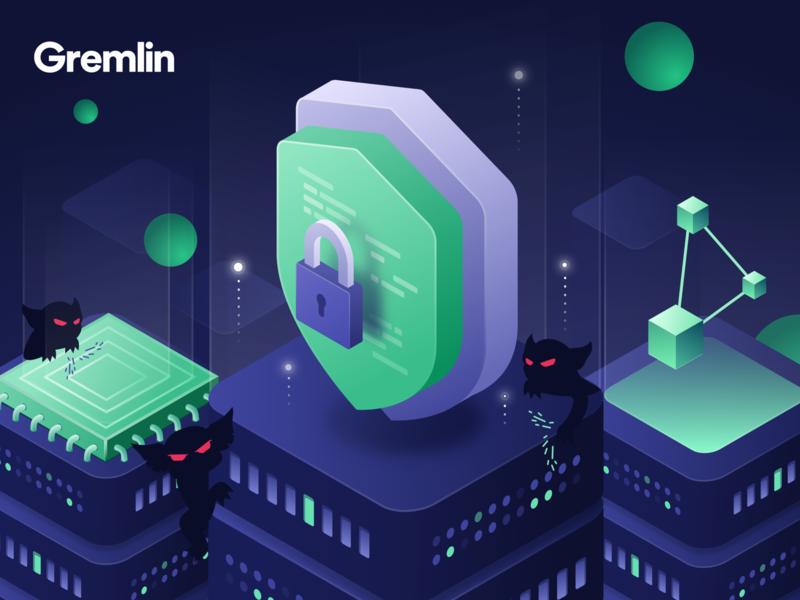 Safe, Secure, Simple - Marketing Illustration shield lock security code servers facebook ad marketing gremlin engineering chaos isometric design illustration ui