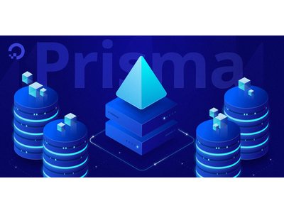Prisma Server Illustration pyramid development glows cylinder prisma ocean digital servers tutorial design isometric illustration