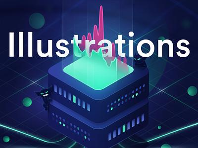 Gremlin Illustrations - Case Study branding vector case study behance gremlin chaos engineering isometric design ui illustration