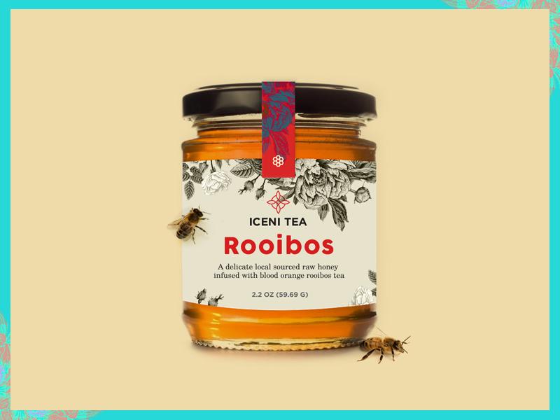 Honey Jar II print typography texture product packaging mark logo honey food font flowers 3d