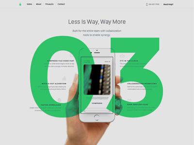 IBM Exploration II web navigation mobile app interface ui web design design colors block typography type