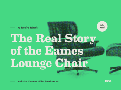 Article Typography - Eames design visual web green color headline header article eames font typography type