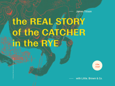 Article Typography - Catcher in the Rye design visual web green color headline header article eames font typography type