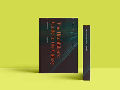 Hitchhiker's Guide Cover Design serif neon print branding texture dust minimalistic type typography cover book publication