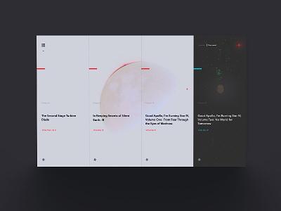 ex: III - Interactive Story expierience ux web design ui interaction typography geometric music minimalism digital space