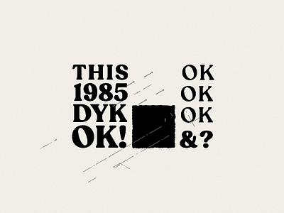 Lockup Explorations swiss vector branding retro layout mark texture type lockup type typography